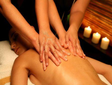 therapeutic massage ladies four hands sensual